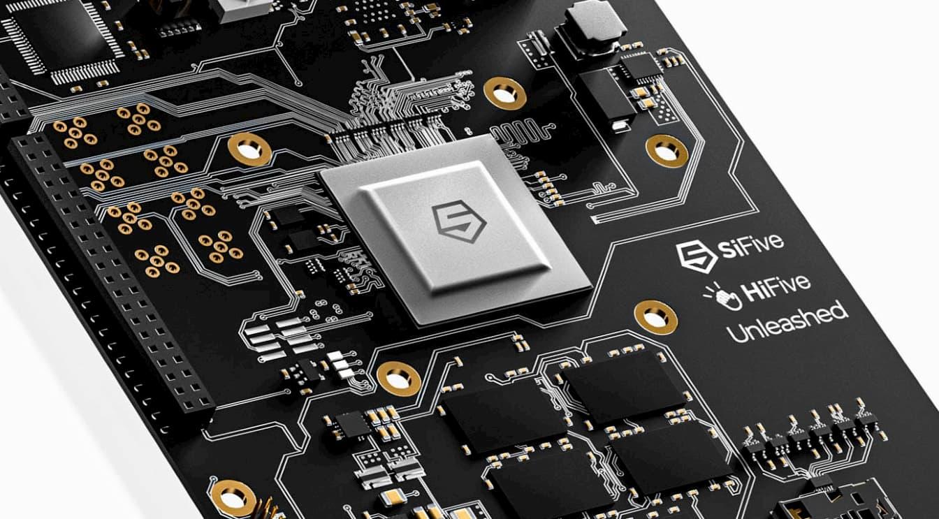 RISC-Vベースのシリコンを設計するSiFiveのチップ。クアルコムも大株主のうちの1社。